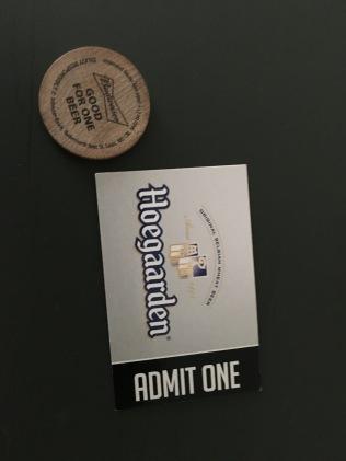 Tickets and beer token