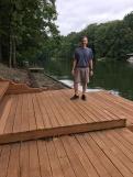 Glen at the lake house