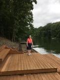 Mom at the lake house