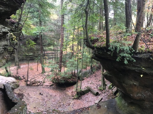 Enchanted hocking hills--looking down at start of hike 2