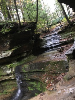 Enchanted hocking hills--looking up at start of hike 3