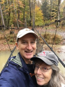 Hocking hills G-K on suspension bridge