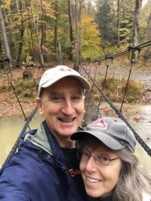 Hocking hills G-K on suspension bridge