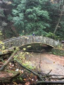 Hocking hills hiking stone bridge