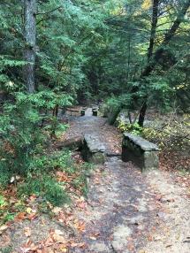 Hocking hills hiking trails small stone bridges
