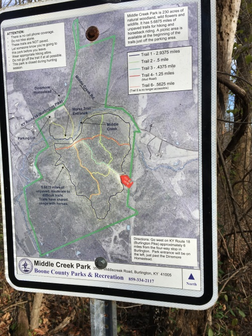 Middle Creek park sign post