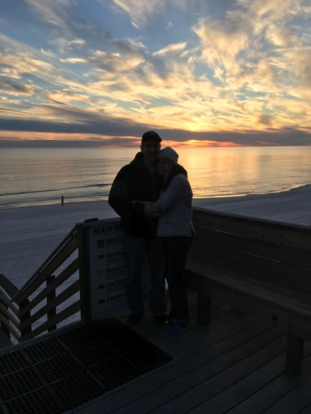 FL Glen and kim at sunset last night