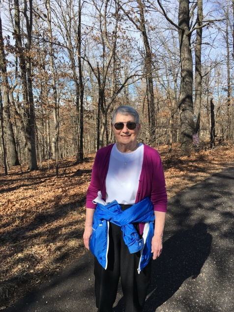AR Day 2 out for a walk with Mom