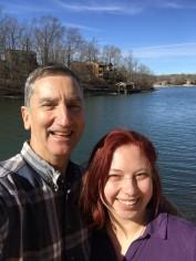 Dad and Daughter at the lake