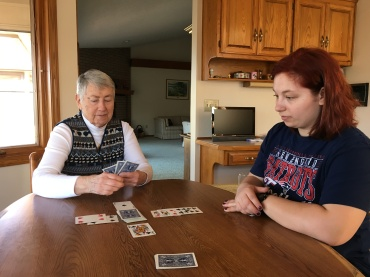 AR Too cold to walk--lets play games with Grandma