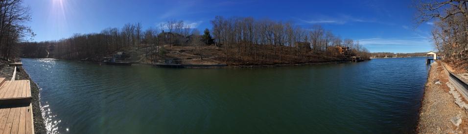 AR View of lake