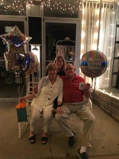 Birthday celebration after dinner