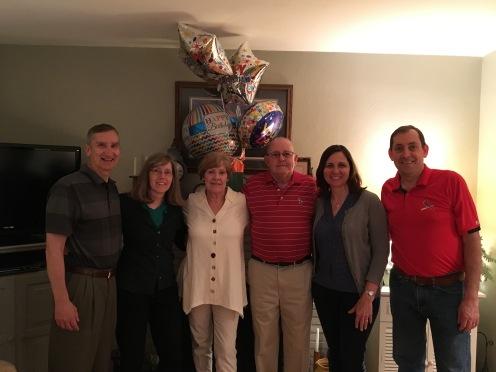 Birthday family celebration