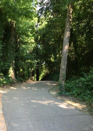 Walking in columbia path