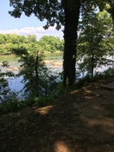 Walking in columbia view of river