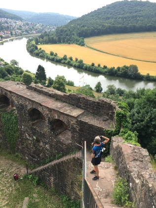 Kim looking out from the Back Castle (Hinterburg).