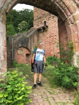 Glen exploring the Back Castle (Hinterburg) is the ancestral castle of the barons of Steinach.