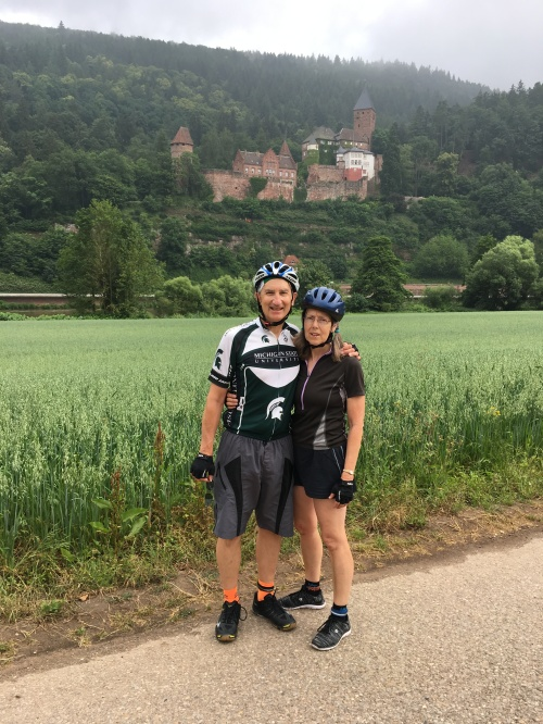 Bike tour 2018 Necker River--June 9 more castles G7K on the road