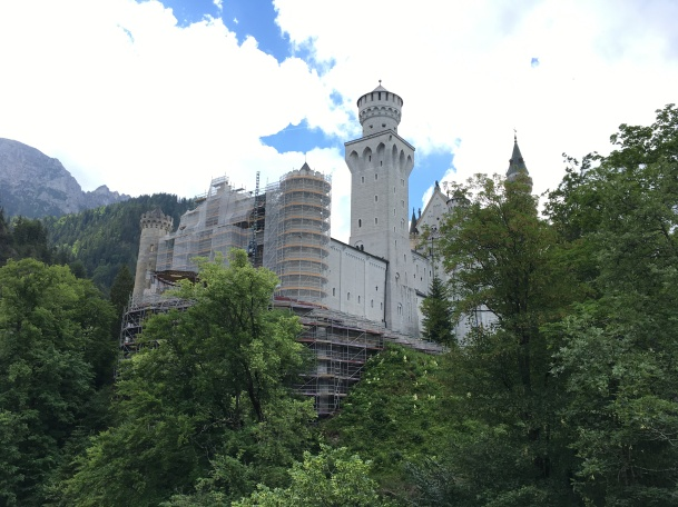 Neuschwanstein 4 front under repair