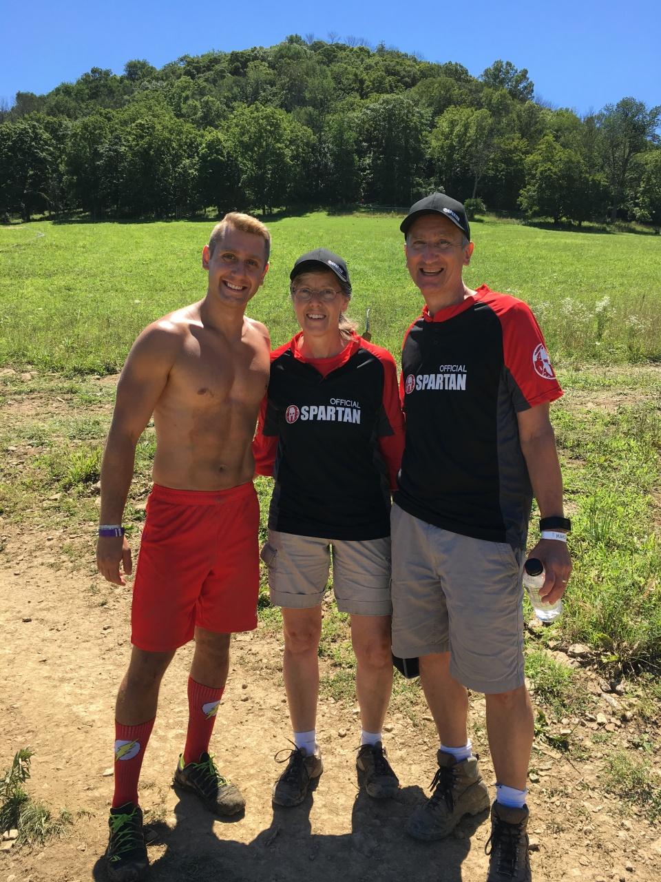 Spartan Sprint parents and son