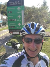 Little Miami Bike Trail bike road selfie