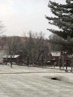 Snow at Maker's Mark