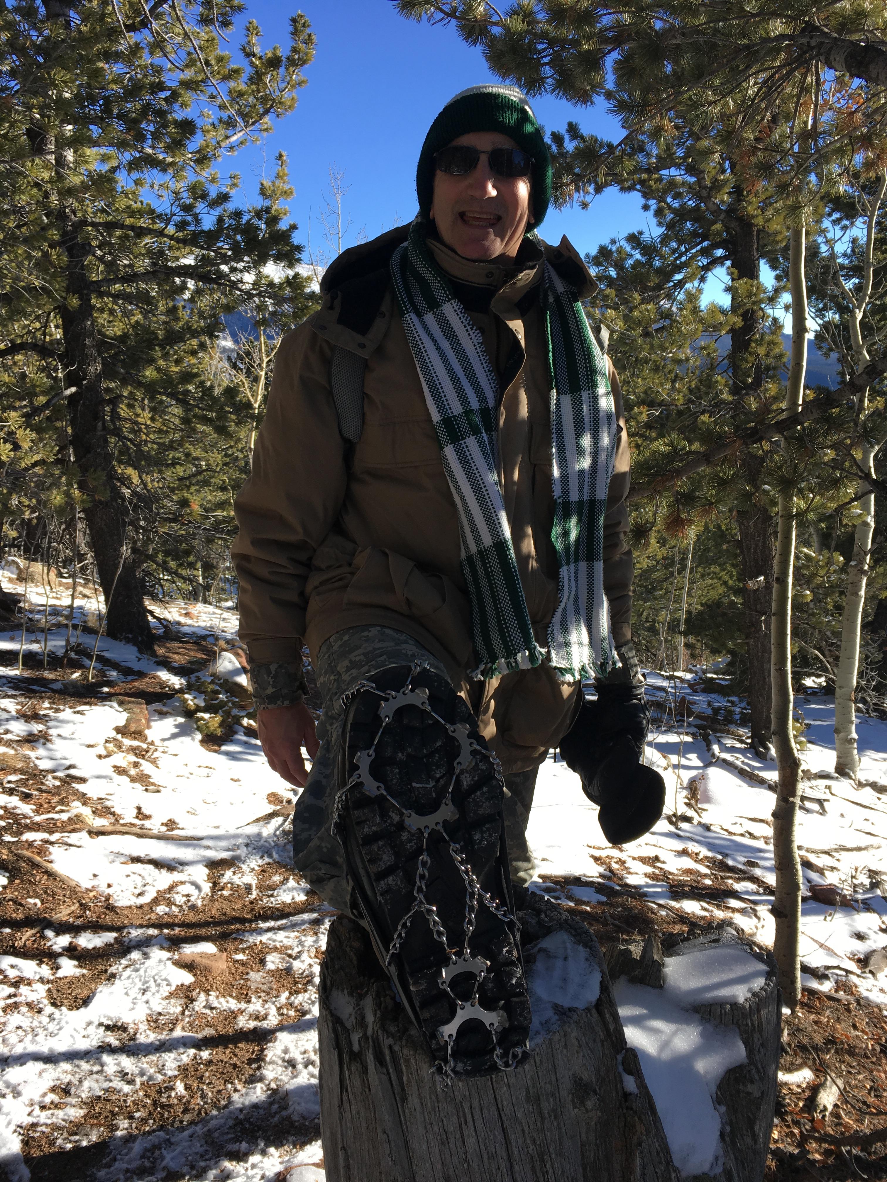 Hike 2 CS 2018 Glen likes the micro spikes