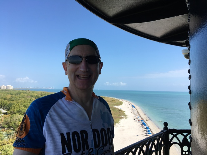 Ride to Keys 2019 first day Glen top of lighthouse