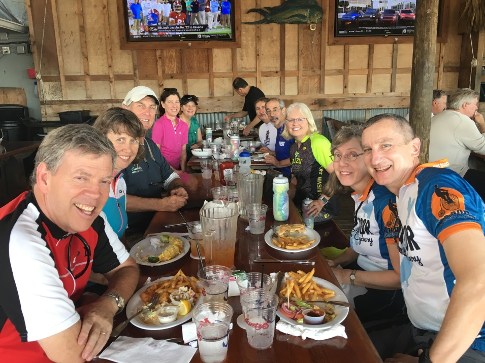 Ride to Keys 2019 first day lunch in Miami