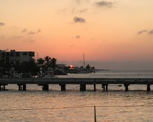 Ride to Keys 2019 first day sunset