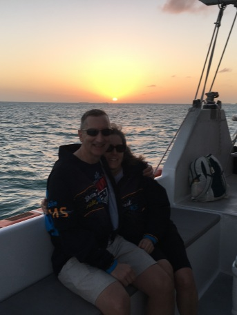 Ride to Keys 2019 fourth day made it to key West--sunset cruise KG