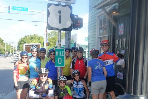 Ride to Keys 2019 last day Mile zero with group