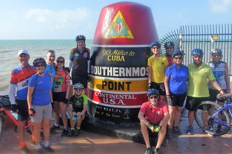 Ride to Keys 2019 last day Mile zero with group -2