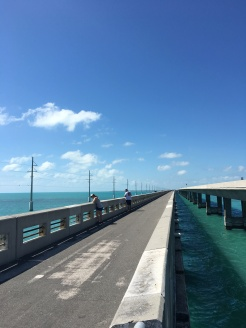 Ride to Keys 2019 Second day separate bridge for bikes and fishing