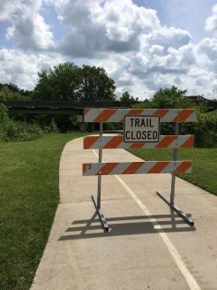 One of a few signs I say on the Razorback trail