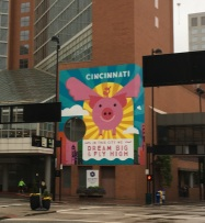 The city is excited about the pig!
