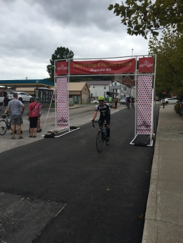 Glen at the finish line
