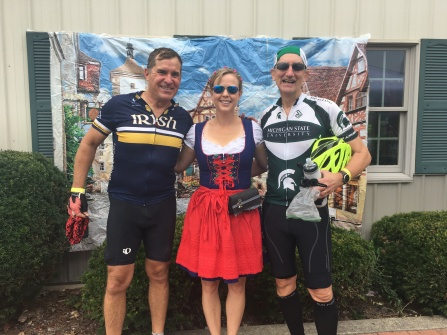 Fun stop along the way in Germantown with Mike and one of the hostesses.