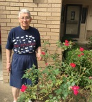 Mom and roses