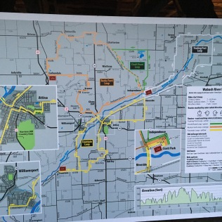 Map of the ride—we had to know the correct colors to follow