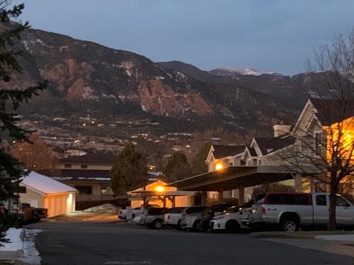 CS Mountains from Condo