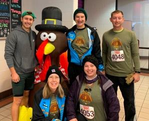 Colorado Springs Turkey Trot 5k 2019--Pre Race (inside where it was warm!)
