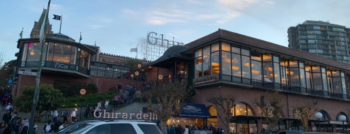 Ghirardelli Square on a perfect day in December