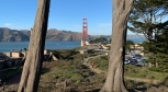 View of the Golden Gate Bridge from WWII defensive placements