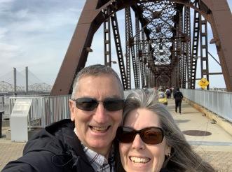 Glen and Kim at Louisville walking bridge