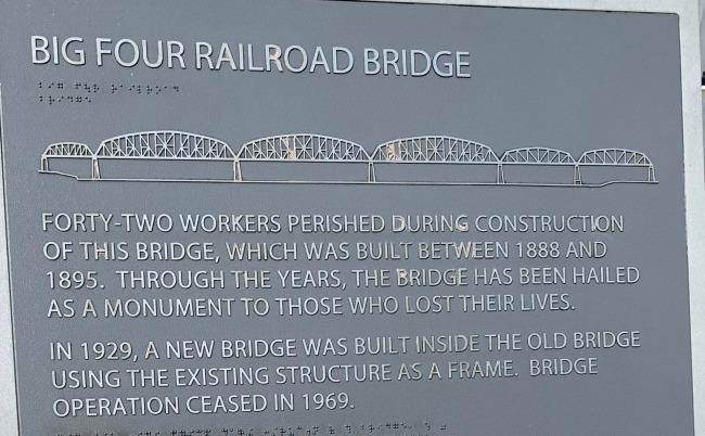 Louisville Big Four RR Bridge plak