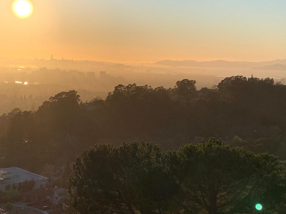 Siesta Valley Recreation Area sunset